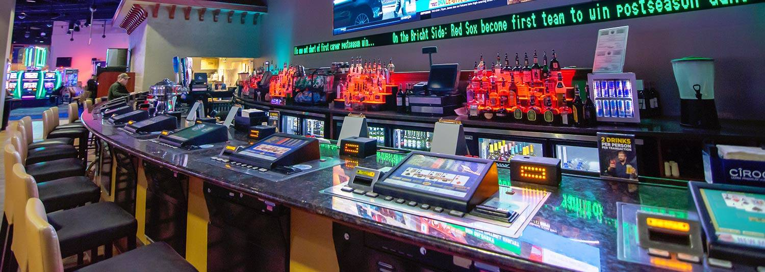 Sports betting area at Wheeling Island