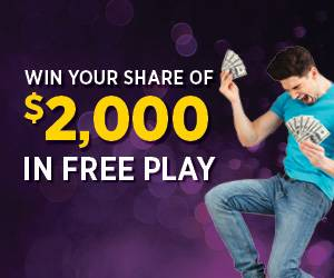 Win Your Share of $2,000 In Free Play